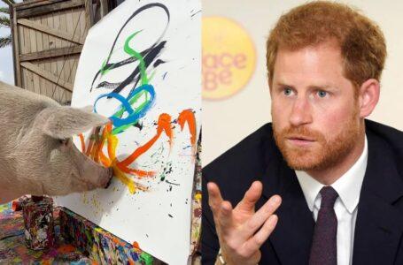 Lukis Wajah Prince Harry  Dan Terjual Dengan Harga RM11K, Babi Ini Digelar Pigcasso