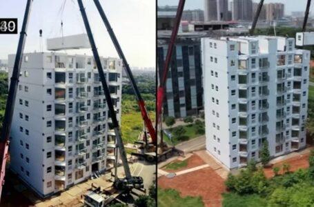 China Siap Bina Bangunan 10 Tingkat Tak Sampai 2 Hari