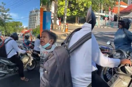 Gelagat Budak Menangis Trauma Tengok Helmet Aneh Bikin Geli Hati